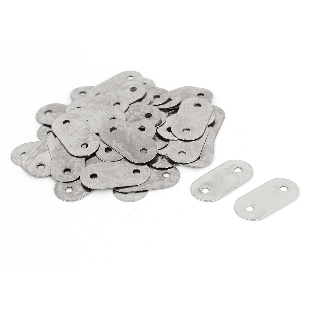 28mm x 14mm Flat Corner Brace Brackets Straight Mending Repair Plates 50PCS