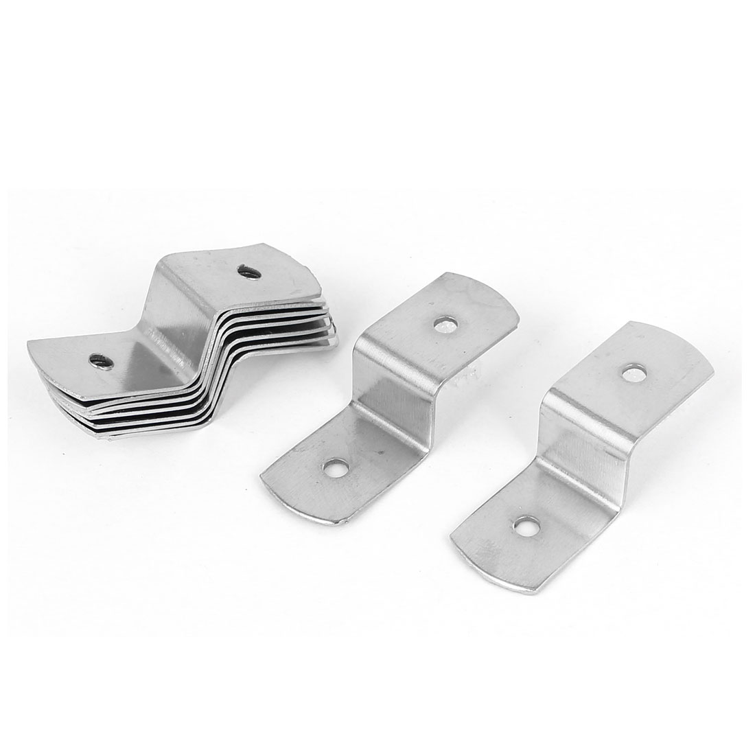 38mm x 13mm x 11mm Metal Z Shape Picture Frame Braces Brackets Silver Tone 10PCS