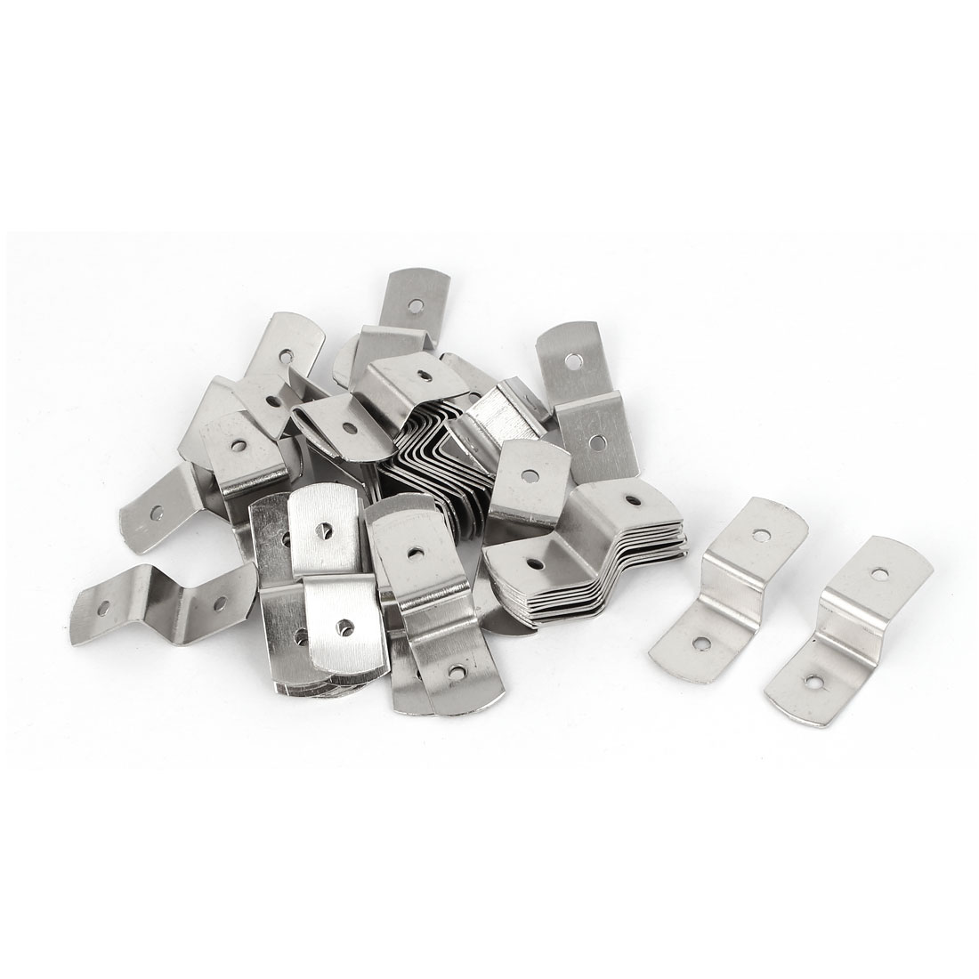 38mm x 13mm x 11mm Metal Z Shape Picture Frame Braces Brackets Silver Tone 50PCS