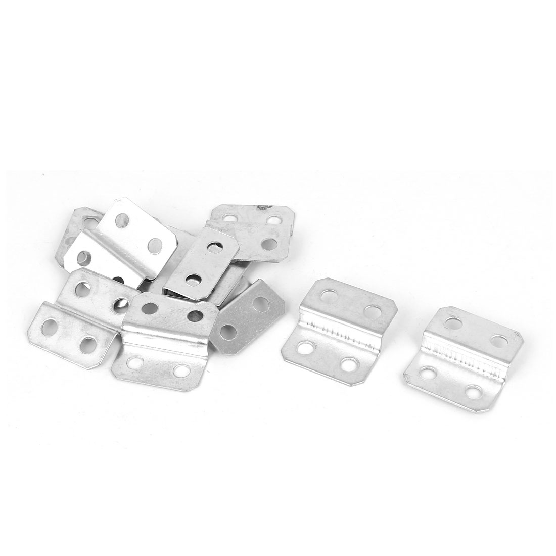27mm x 25mm x 7mm Z Shape Photo Picture Frame Braces Brackets Silver Tone 10PCS