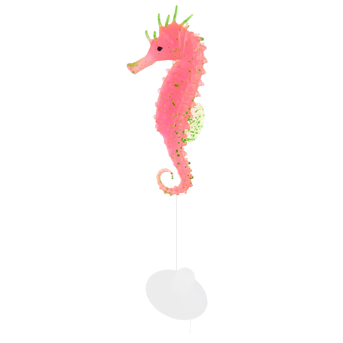 Fish Tank Silicone Suction Cup Artificial Seahorse Aquarium Decor Light Pink