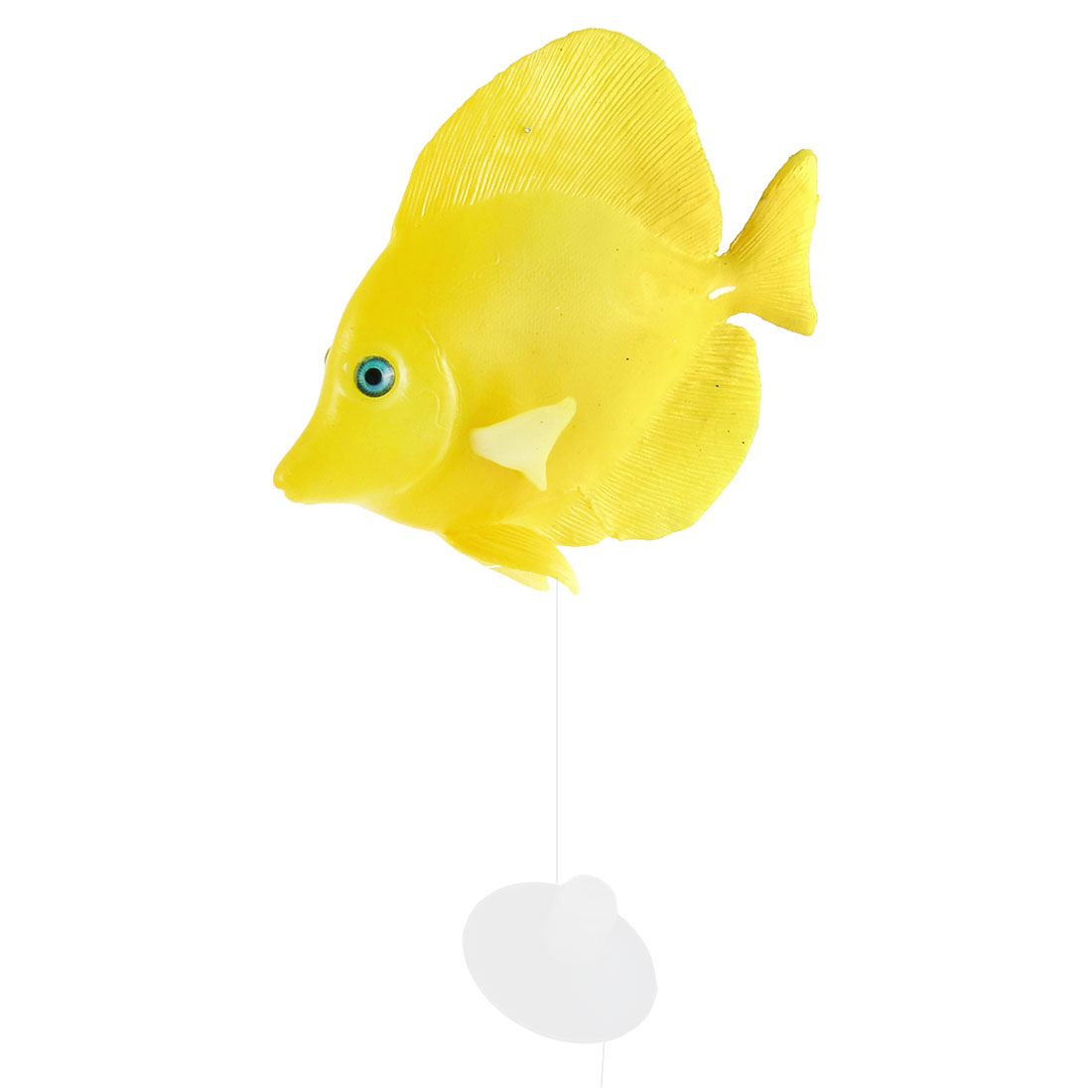 Aquarium Silicone Artificial Glowing Tropical Sea Float Fish Ornament Yellow