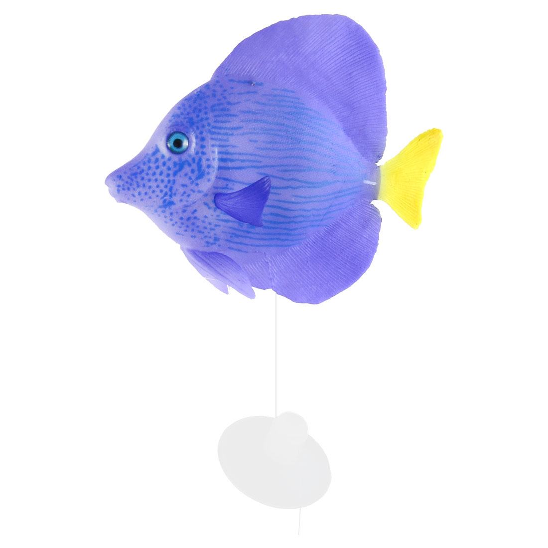 Aquarium Silicone Artificial Emulation Tropical Sea Float Fish Ornament Purple