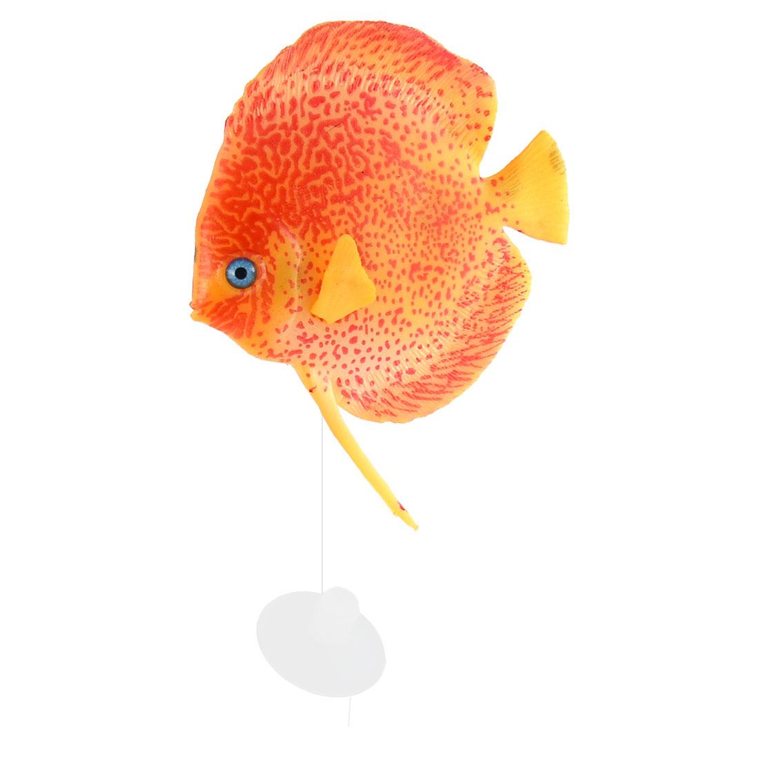 Aquarium Landscape Silicone Artificial Tropical Sea Float Fish Decoration Yellow