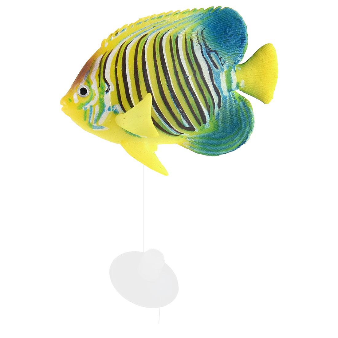 Aquarium Silicone Artificial Glowing Tropical Sea Float Fish Decor Colorful