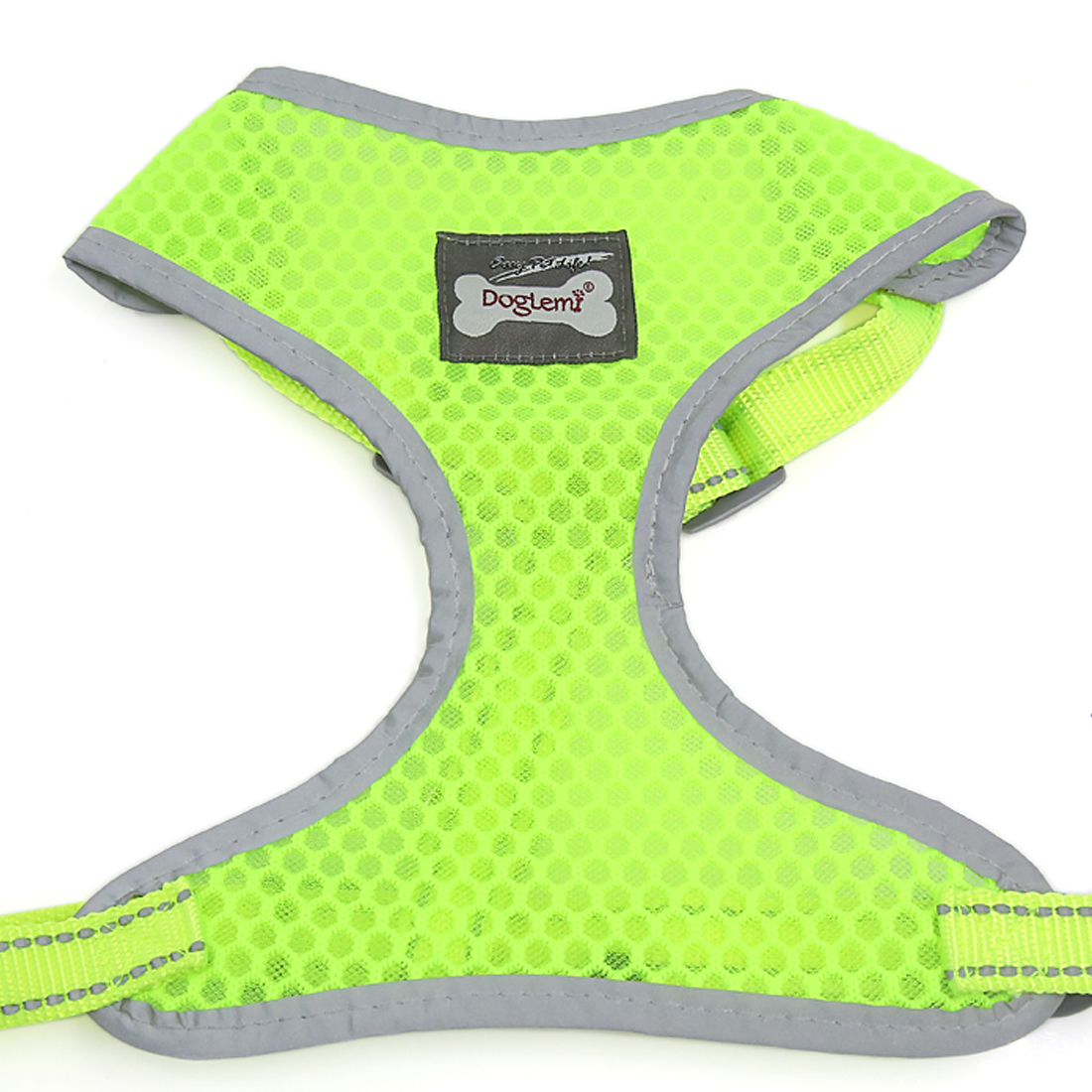 Comfort Control Dog Harness Adjustable Breathable Soft Air Mesh Puppy Harnesses Walk Collar Reflective Vest Yellow M