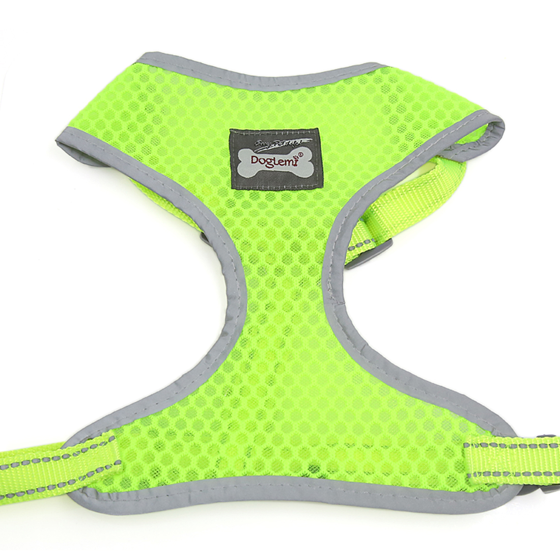 Comfort Control Dog Harness Adjustable Breathable Soft Air Mesh Puppy Harnesses Walk Collar Reflective Vest Yellow XL
