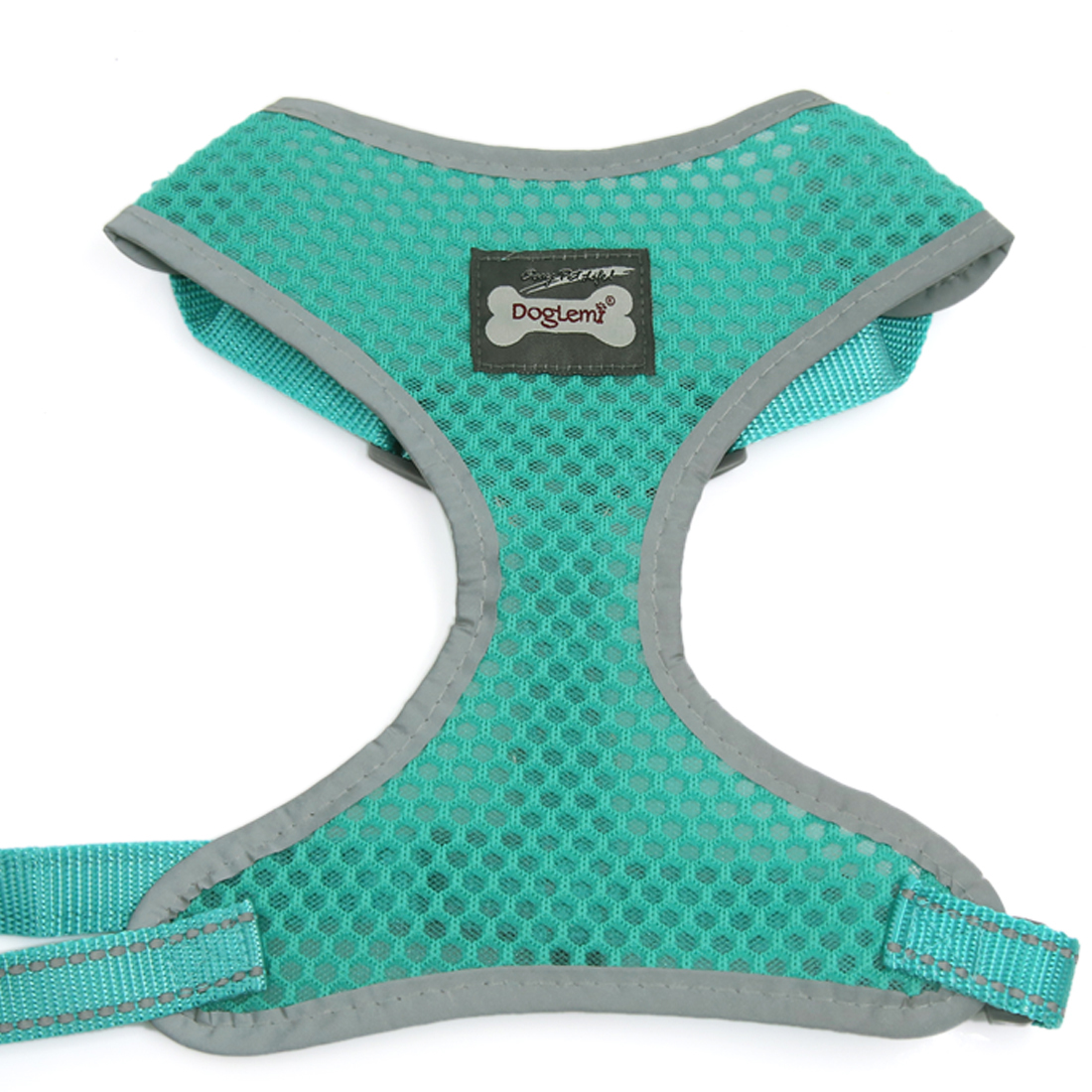 Comfort Control Dog Adjustable Breathable Soft Air Mesh Puppy Harnesses Walk Collar Reflective Vest Green S
