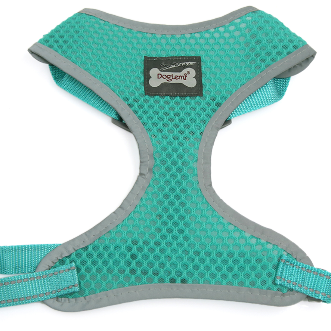 Comfort Control Dog Harness Adjustable Breathable Soft Air Mesh Puppy Harnesses Walk Collar Reflective Vest Green M