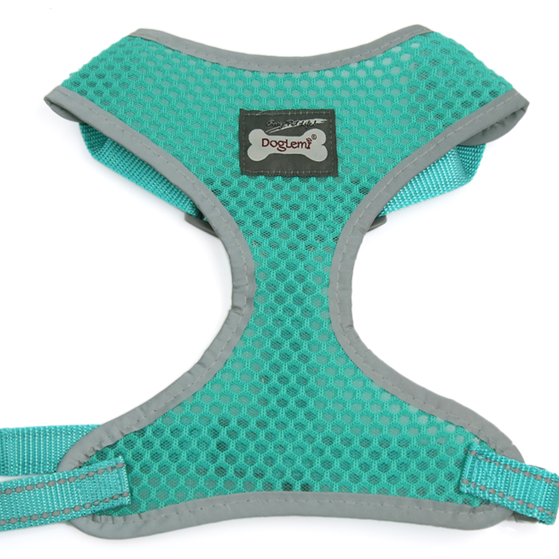Comfort Control Dog Harness Adjustable Breathable Soft Air Mesh Puppy Harnesses Walk Collar Reflective Vest Green L
