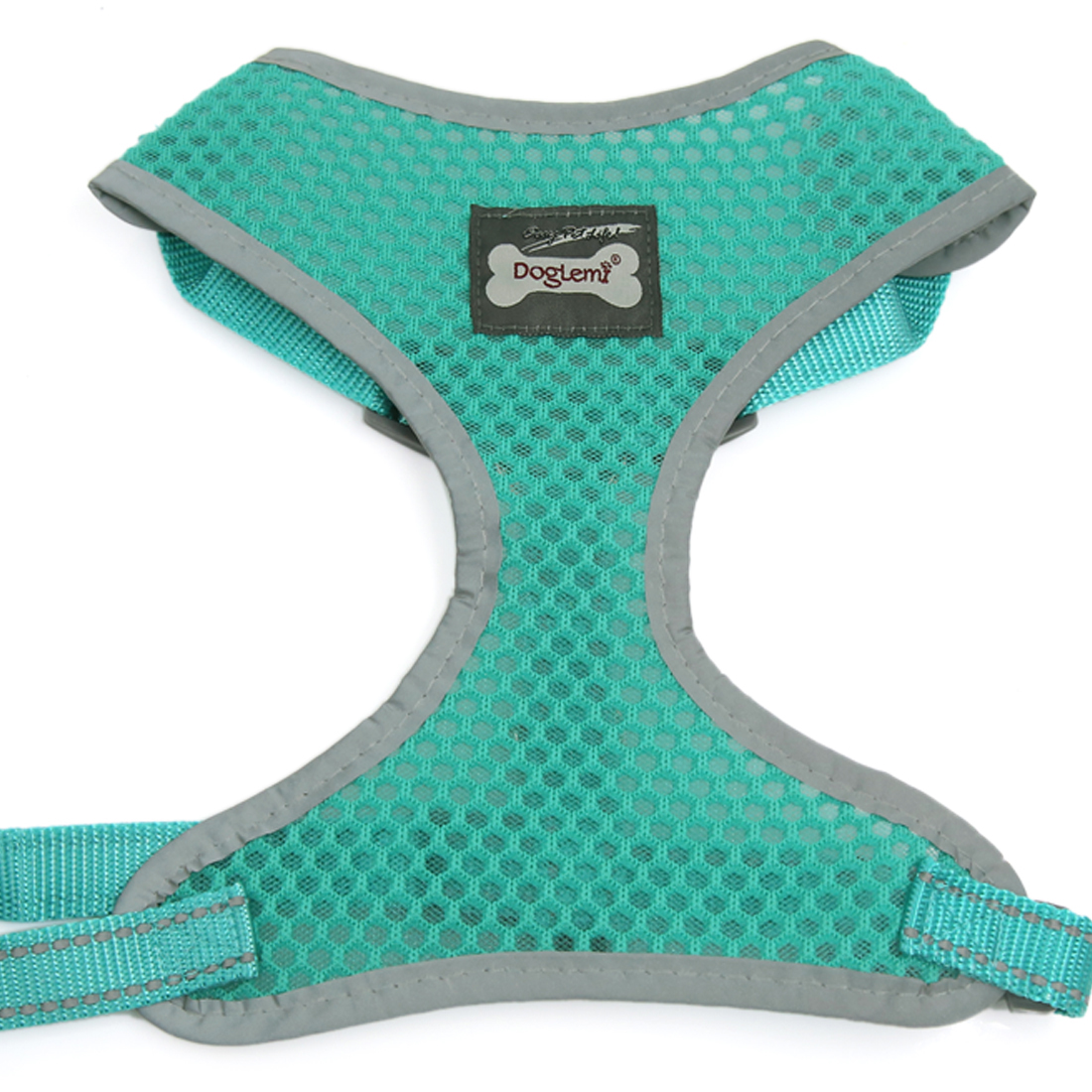 Comfort Control Dog Harness Adjustable Breathable Soft Air Mesh Puppy Harnesses Walk Collar Reflective Vest Green XL