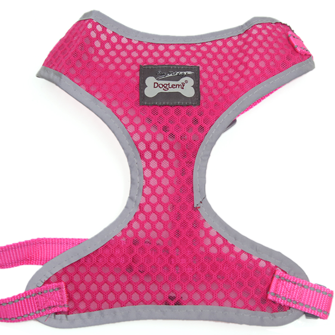 Comfort Control Dog Harness Adjustable Breathable Soft Air Mesh Puppy Harnesses Walk Collar Reflective Vest Fuchsia XL