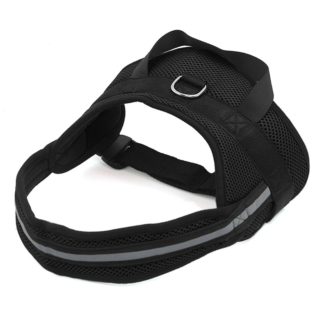 Big Dog Soft Mesh Reflective No Pull Harness Adjustable Large Pet Walk Vest Safe Control Collar Black M