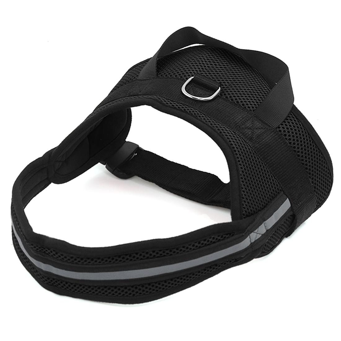 Big Dog Soft Mesh Reflective No Pull Harness Adjustable Large Pet Walk Vest Safe Control Collar Black XL