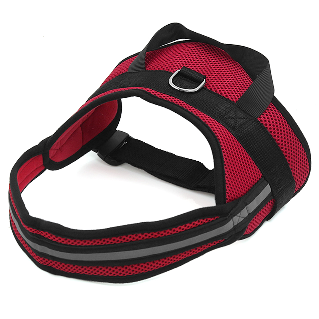 Big Dog Soft Mesh Reflective No Pull Harness Adjustable Large Pet Walk Vest Safe Control Collar Red XS