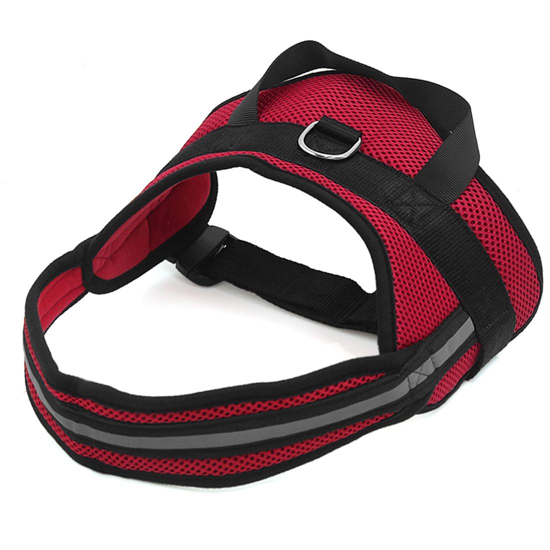 Big Dog Soft Mesh Reflective No Pull Harness Adjustable Large Pet Walk Vest Safe Control Collar Red L