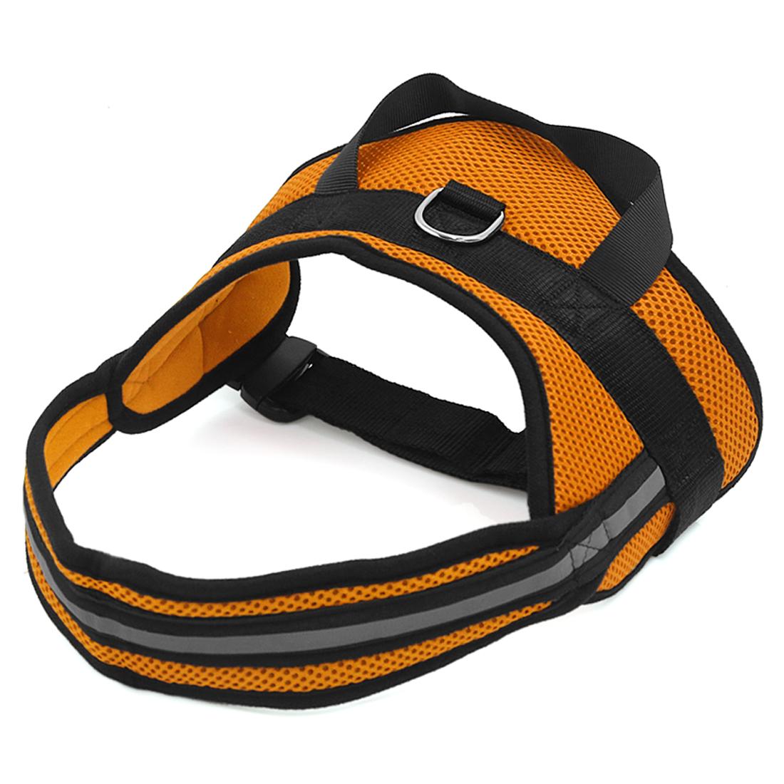 Big Dog Soft Mesh Reflective No Pull Harness Adjustable Large Pet Walk Vest Safe Control Collar Orange M
