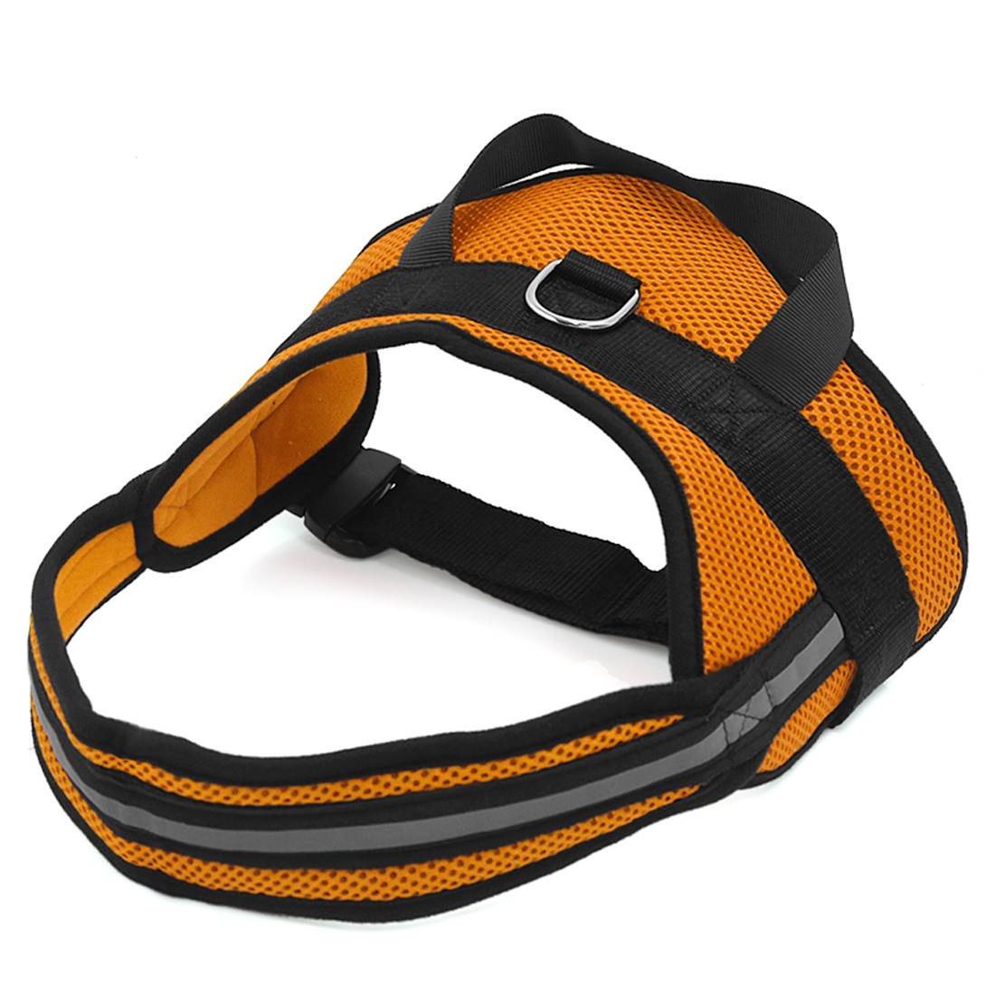 Big Dog Soft Mesh Reflective No Pull Harness Adjustable Large Pet Walk Vest Safe Control Collar Orange L