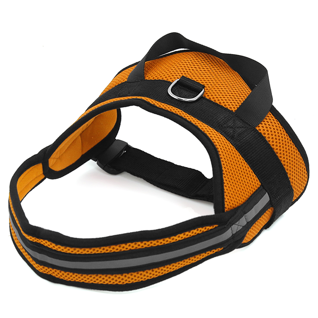 Big Dog Soft Mesh Reflective No Pull Harness Adjustable Large Pet Walk Vest Safe Control Collar Orange XL
