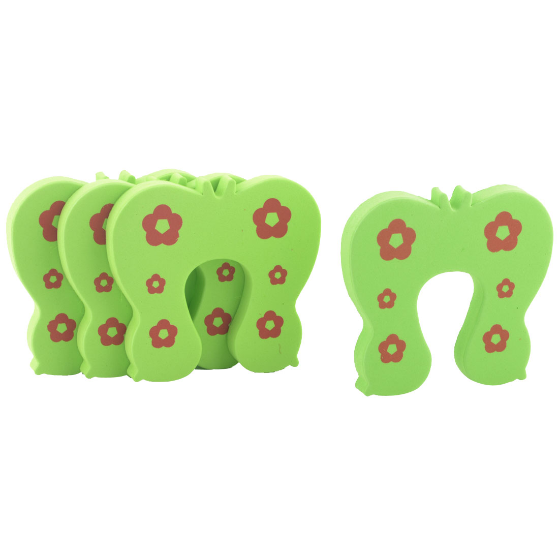 EVA Cartoon Green Butterfly Home Safety Guard Doorstop Door Stopper Lock 4pcs