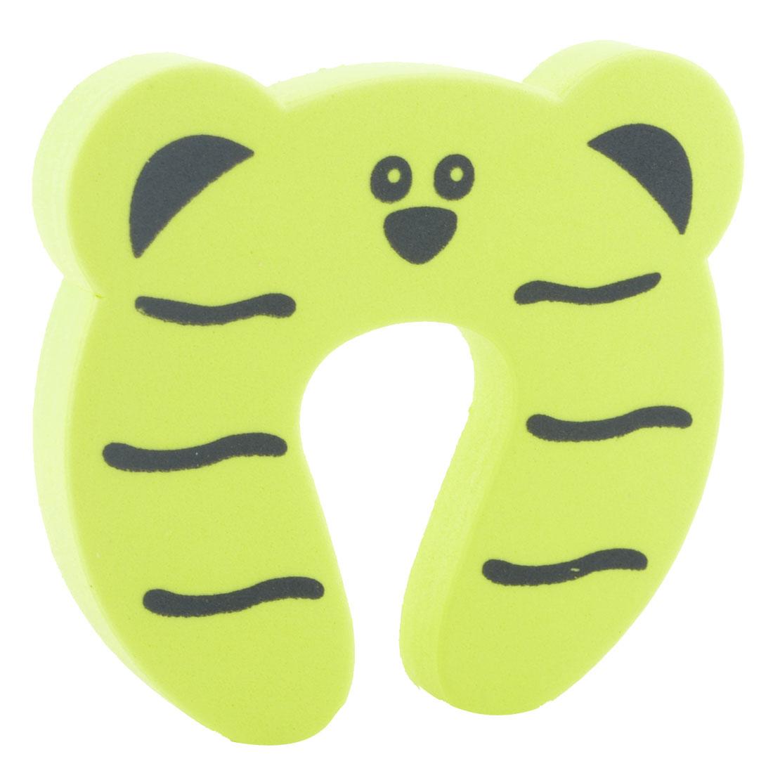 EVA Cartoon Yellow Tiger Shape Finger Protector Safety Guard Door Stopper Lock