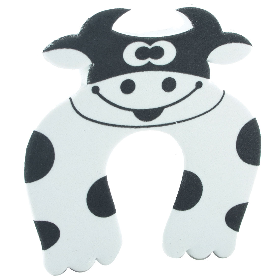 EVA Cartoon White Cow Shape Finger Protector Safety Guard Doorstop Door Stopper Lock