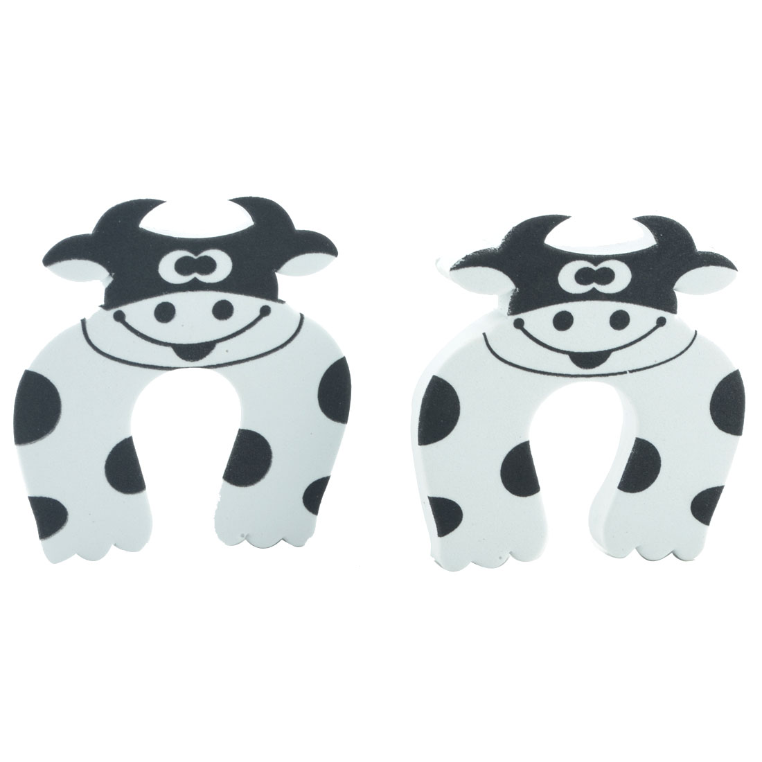 Home EVA White Cow Finger Protector Safety Guard Doorstop Door Stopper Lock 2pcs