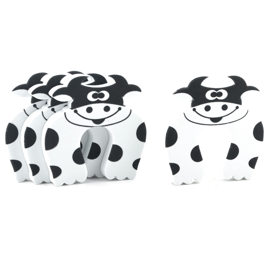 EVA Cartoon White Cow Finger Protector Safety Guard Doorstop Door Stopper Lock 4pcs