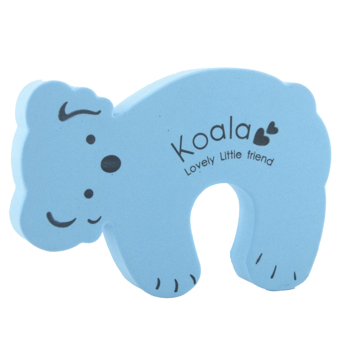 EVA Blue Cartoon Koala Shape Finger Safety Guard Doorstop Door Stopper Lock