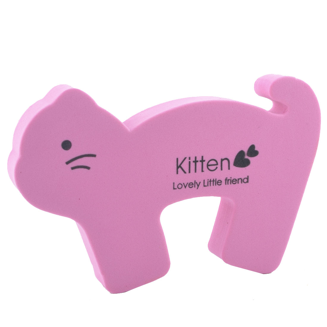 EVA Cartoon Pink Kitten Shape Finger Safety Guard Doorstop Door Stopper Lock
