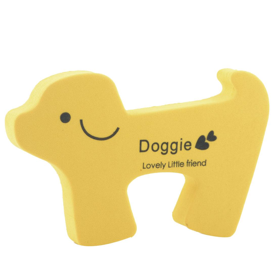 EVA Yellow Doggie Shape Finger Protector Safety Guard Doorstop Door Stopper Lock