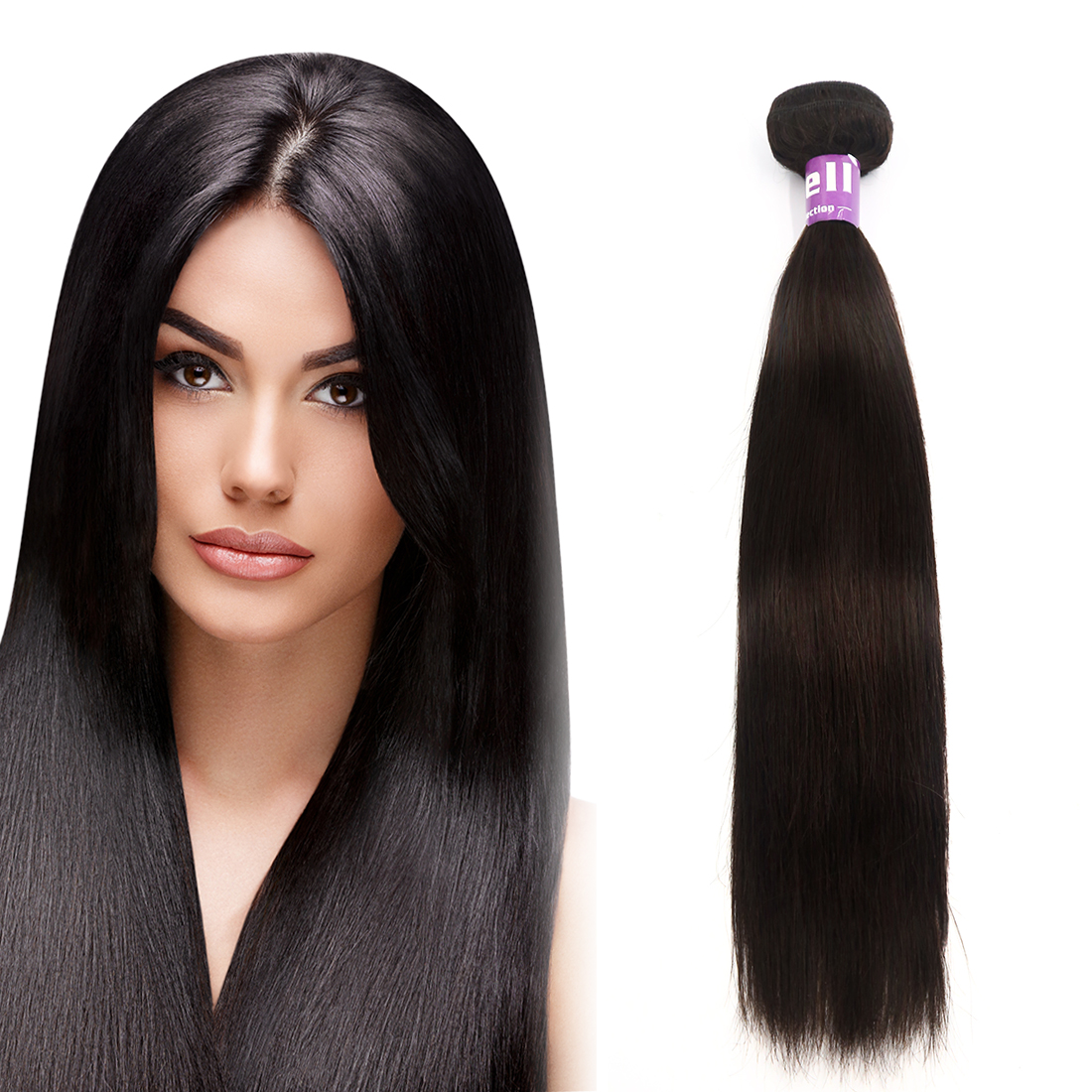 "Peruvian Virgin Silky Straight Human Hair Weave Extensions 7A 12"" 1 Bundle"
