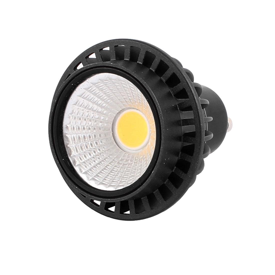 AC85-265V 3W GU10 COB LED Spotlight Lamp Bulb Round Downlight Pure White