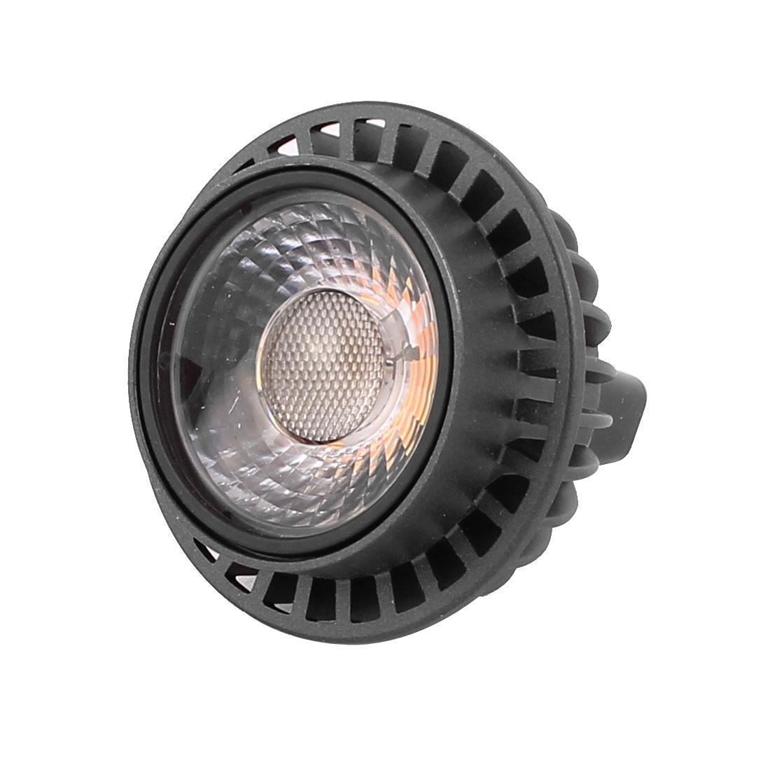 DC12V 3W MR16 COB LED Spotlight Lamp Bulb Downlight Cylinder Warm White