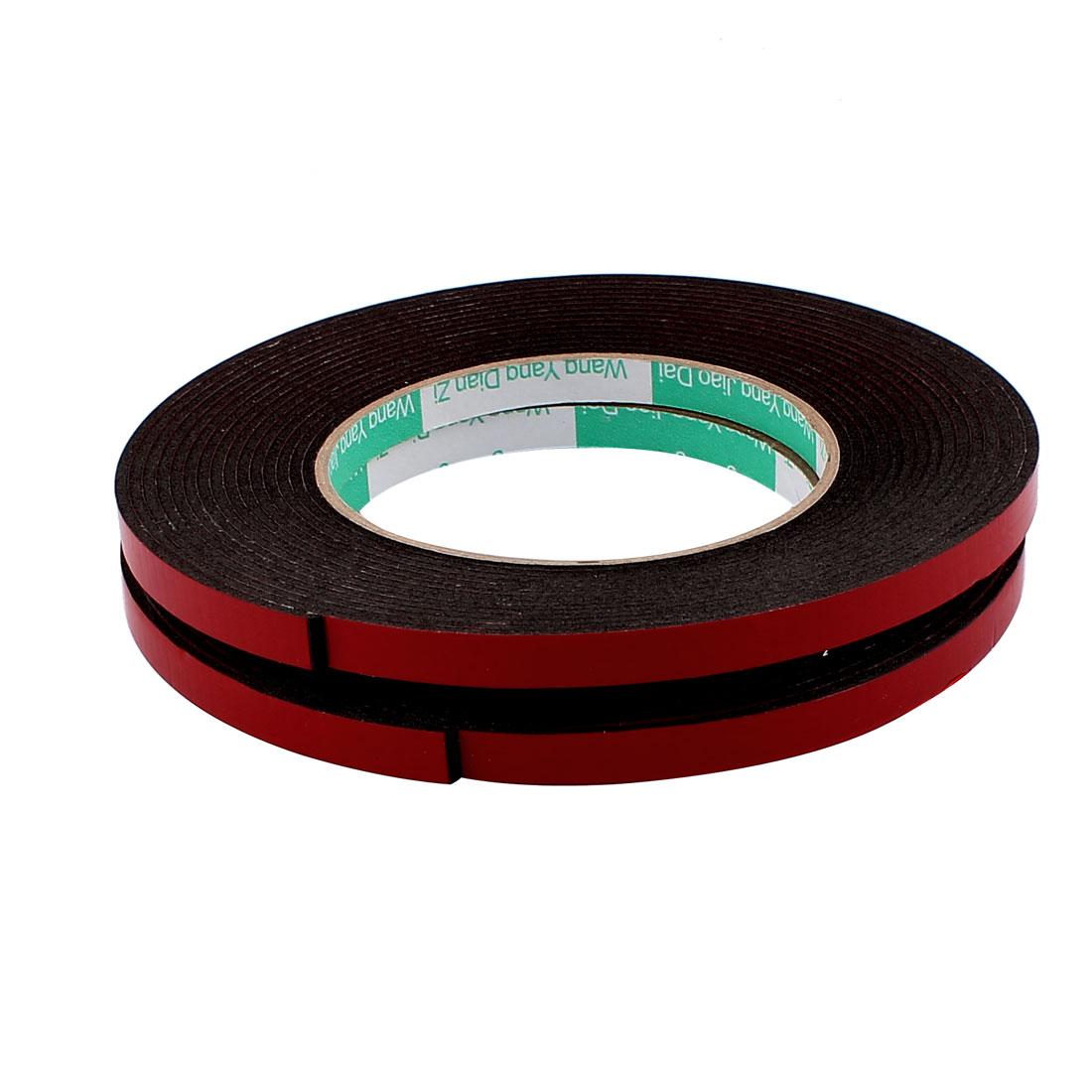 2 Pcs 8mmx2mm Double Sided Sponge Tape Adhesive Sticker Foam Glue Strip Sealing 5 Meters