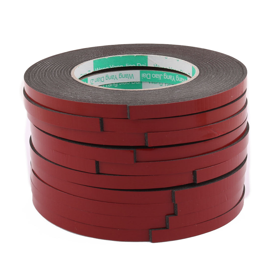 10pcs 8mmx2mm Red Double Sided Sponge Tape Adhesive Sticker Foam Glue Strip 5M