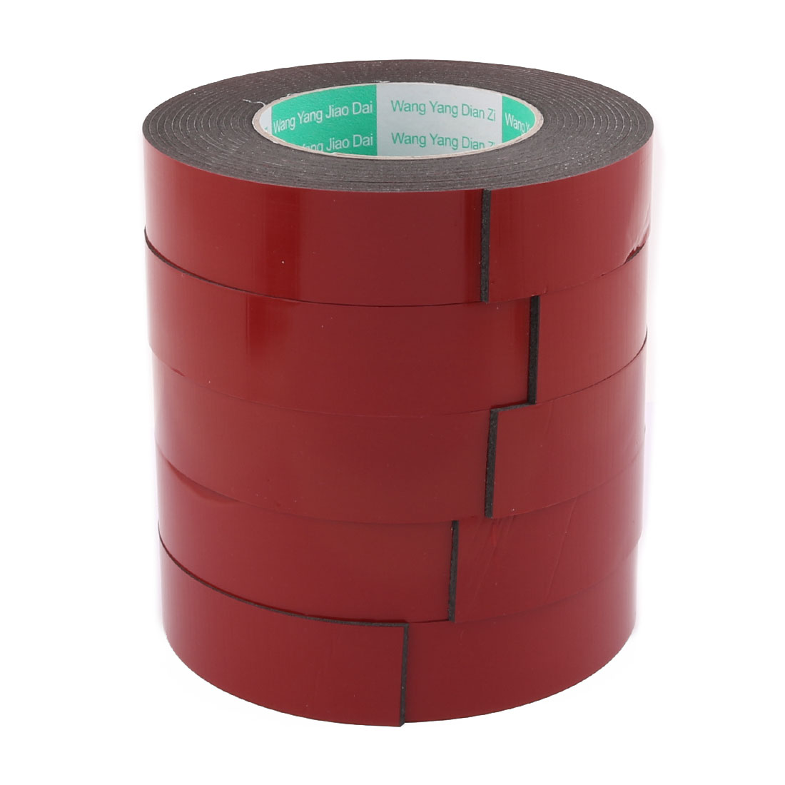 5Pcs 30mmx2mm Double Sided Sponge Tape Adhesive Sticker Foam Glue Strip Sealing 5 Meters