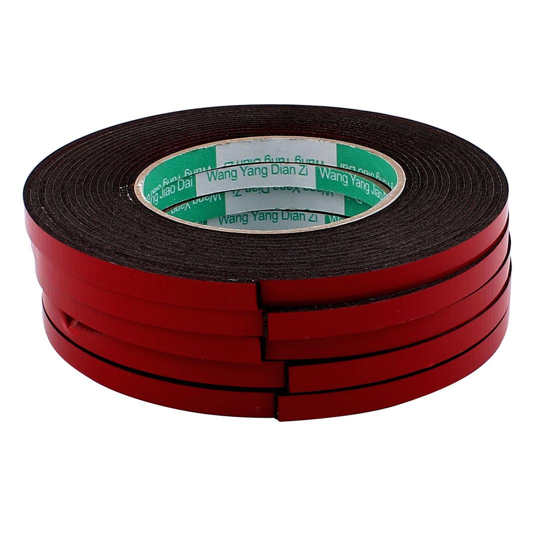 5 Pcs 8mmx2mm Double Sided Sponge Tape Adhesive Sticker Foam Glue Strip Sealing 5 Meters