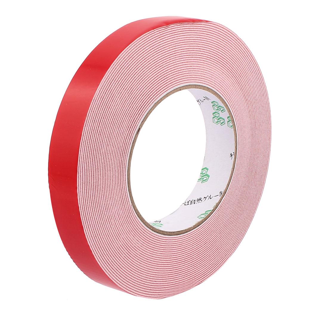 20mmx1mm Double Sided Sponge Tape Adhesive Sticker Foam Glue Strip Sealing 10M 33Ft