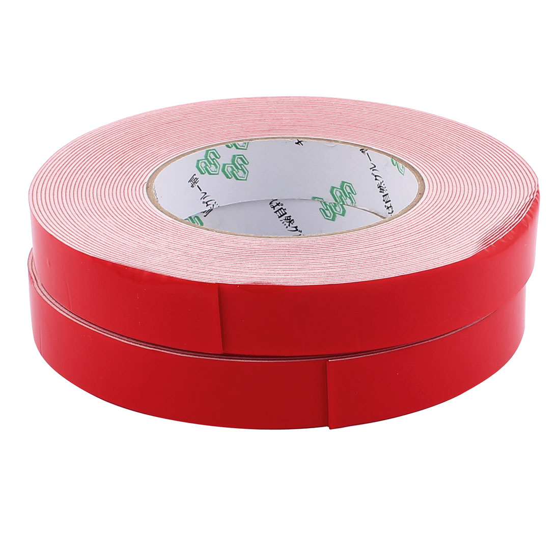 2 Pcs 20mmx1mm Double Sided Sponge Tape Adhesive Sticker Foam Glue Strip Sealing 10 Meters 33Ft