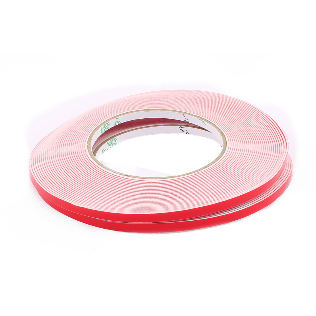 2PCS 5MM Width 10M Long 1MM Thick White Dual Sided Waterproof Sponge Tape for Car