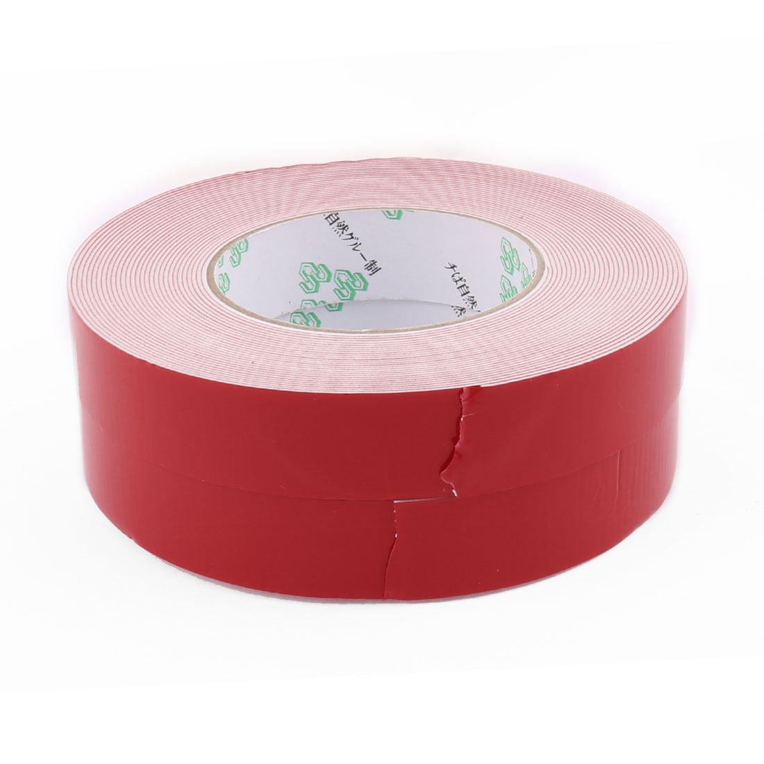 2pcs 2.5MM x 1MM 10M Long Thick White Dual Sided Waterproof Sponge Tape for Car