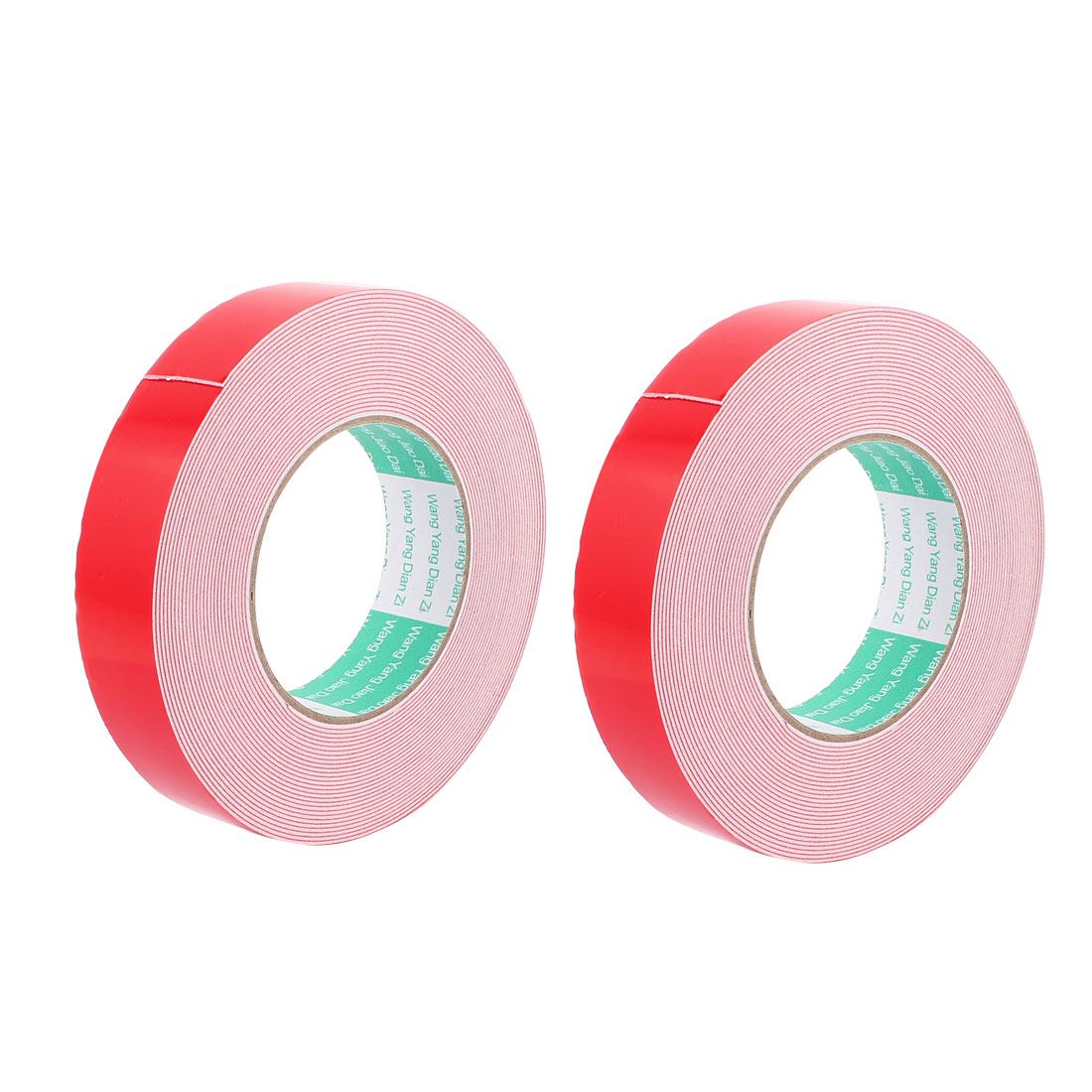 2PCS 30MM Width 10M Long 1MM Thick White Dual Sided Waterproof Sponge Tape for Car