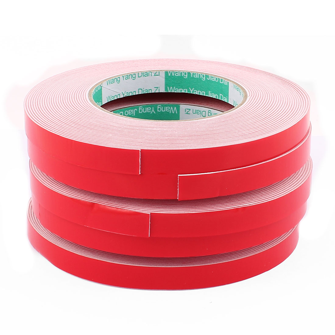 5PCS 1.2CM Width 10M Long 1MM Thick White Dual Sided Waterproof Sponge Tape for Car