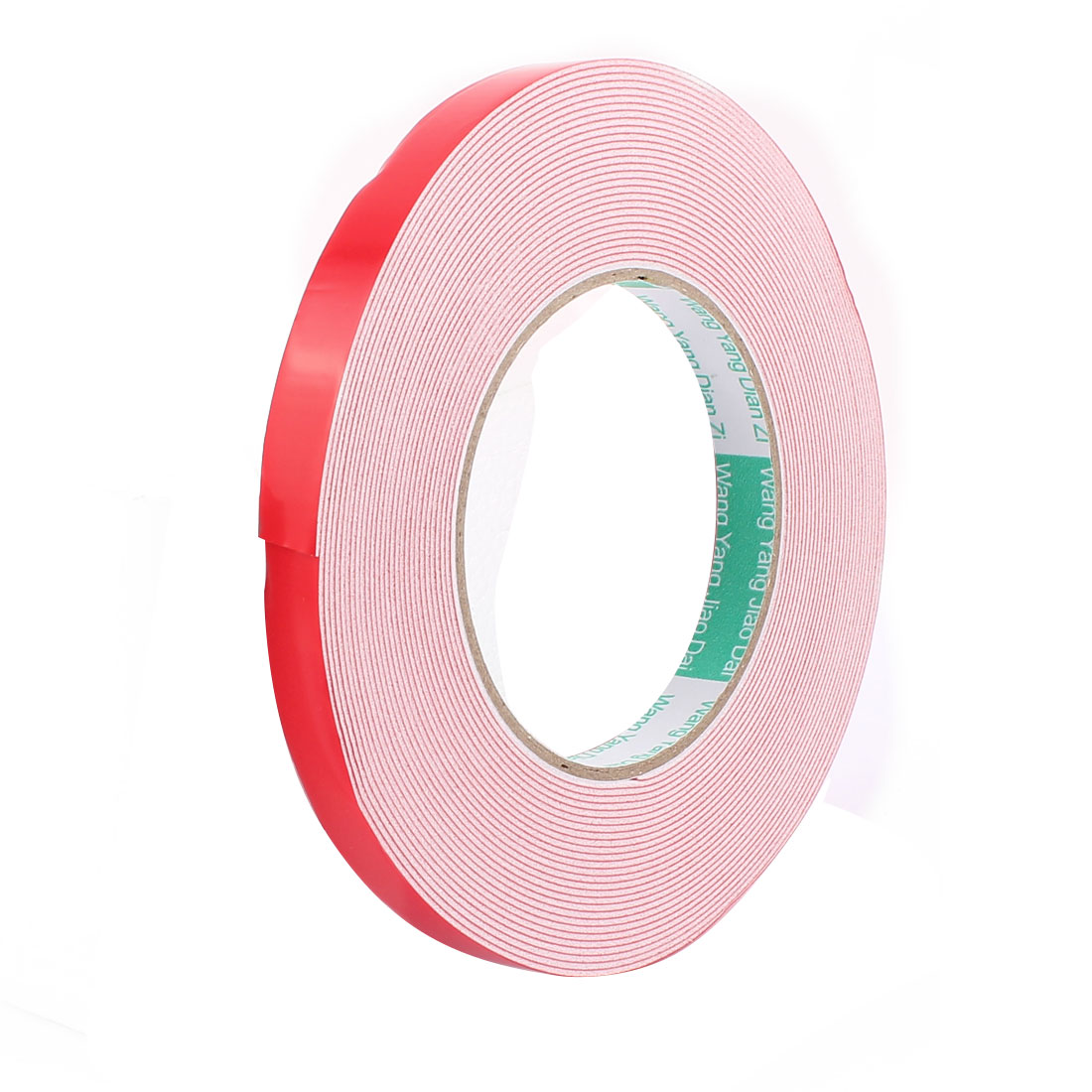 12MM Width 10M Length 1MM Thick White Dual Sided Waterproof Sponge Tape for Car