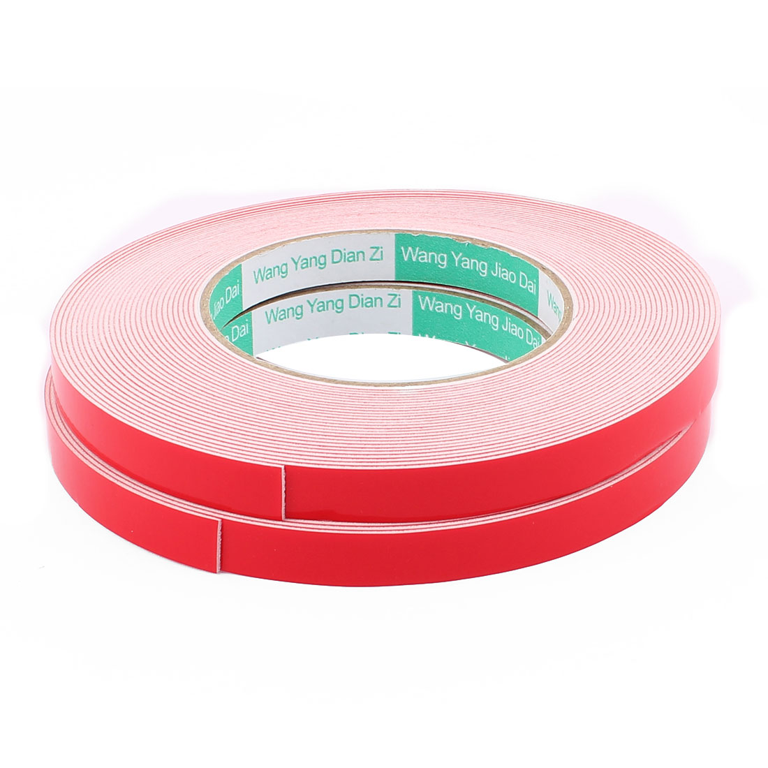 2PCS 12MM Width 10M Long 1MM Thick White Dual Sided Waterproof Sponge Tape for Car
