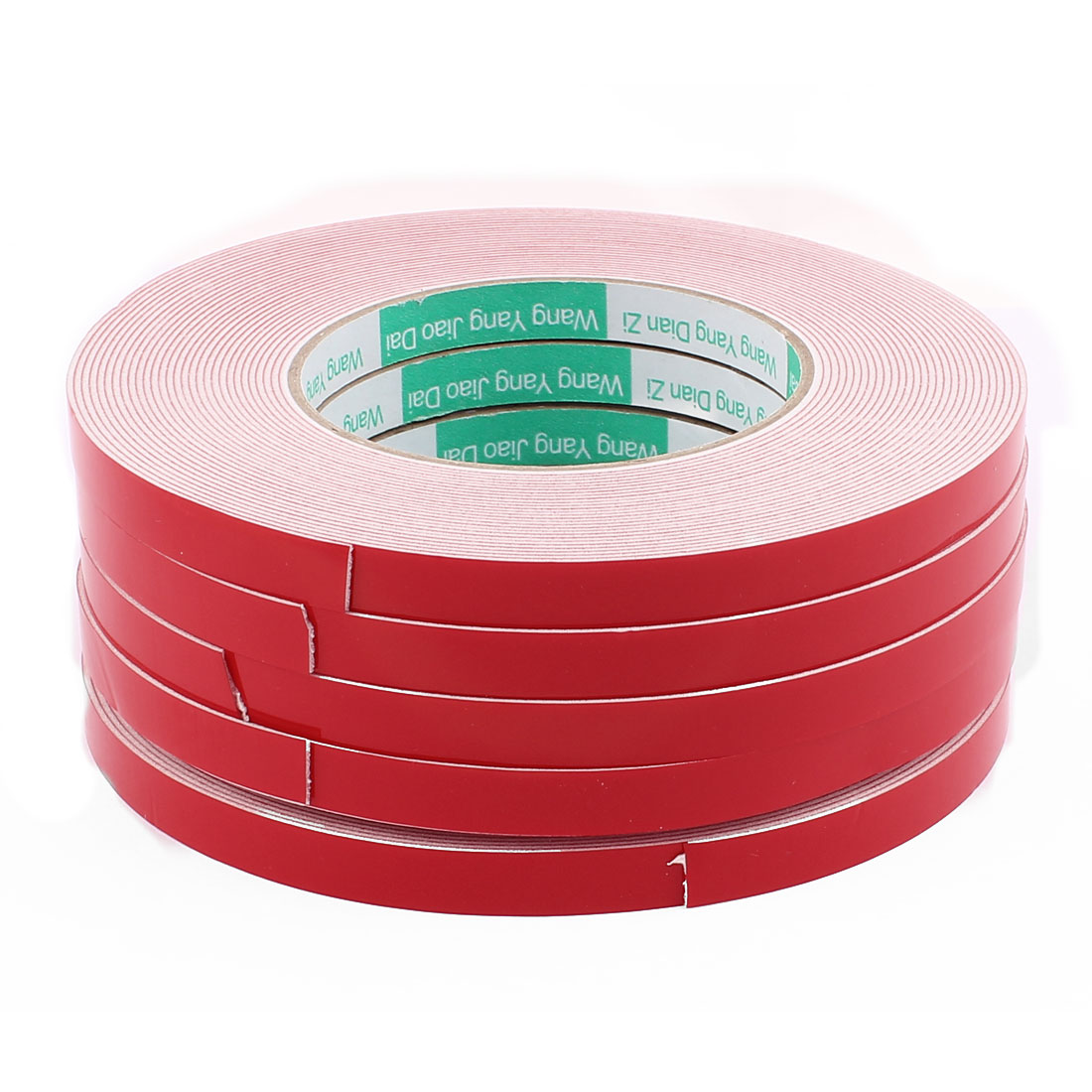 5PCS 10MM Width 10M Long 1MM Thick White Dual Sided Waterproof Sponge Tape for Car