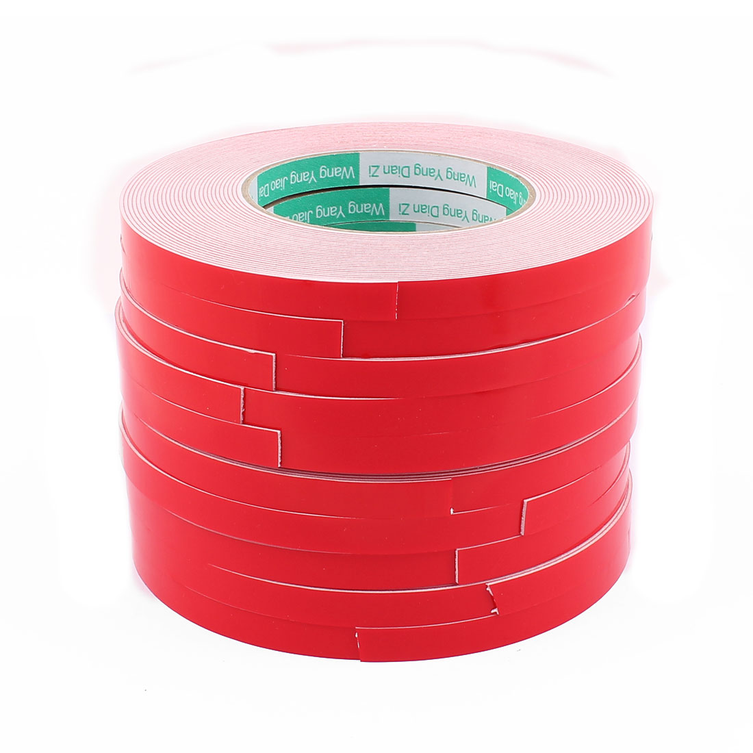 10PCS 1CM Width 10M Long 1MM Thick White Dual Sided Waterproof Sponge Tape for Car