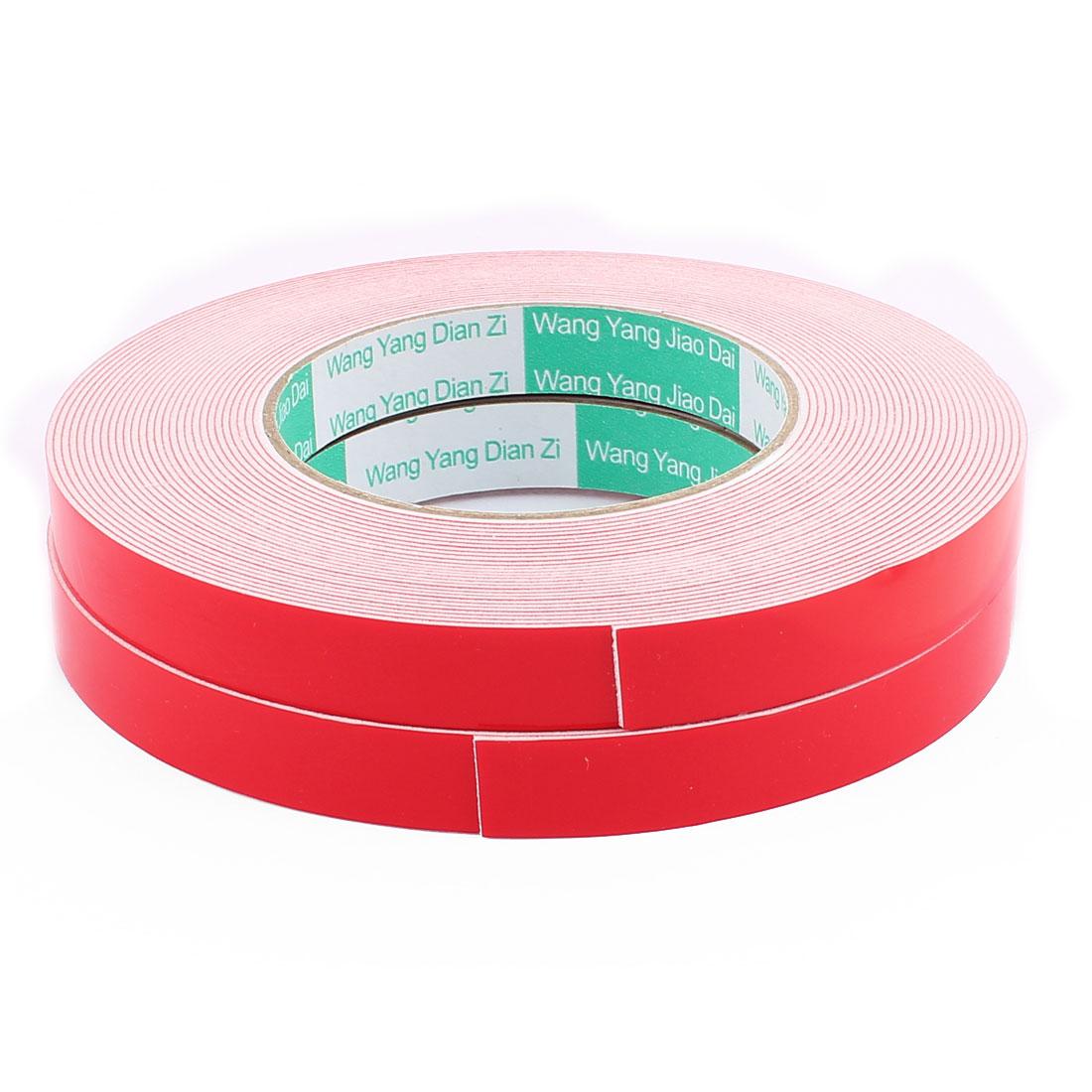 2PCS 15MM Width 10M Long 1MM Thick White Dual Sided Waterproof Sponge Tape for Car