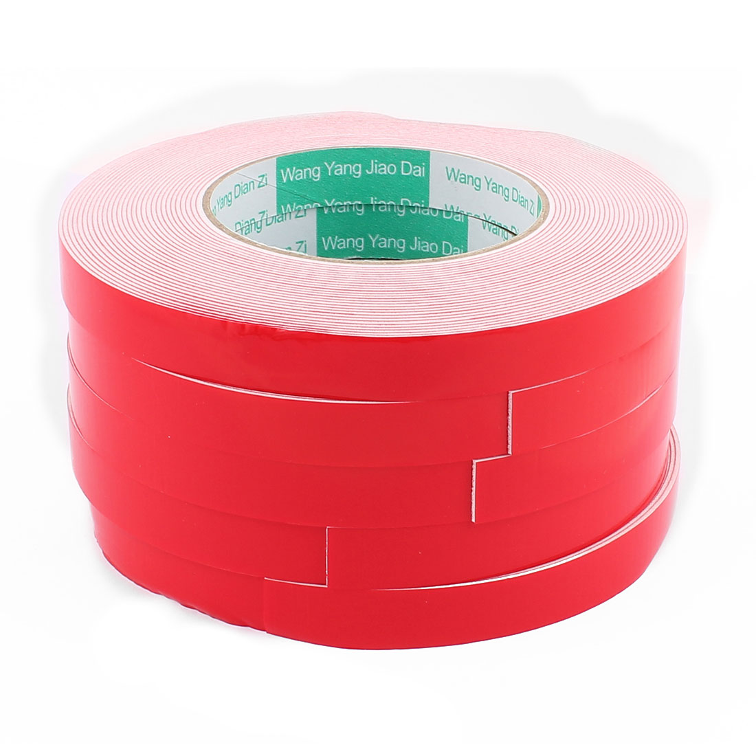5PCS 1.5CM Width 10M Long 1MM Thick White Dual Sided Waterproof Sponge Tape for Car